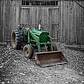 Old Tractor By The Barn Etna New Hampshire by Edward Fielding