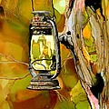 Old Lantern In Camo by Tammy Crawford