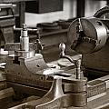 Old Lathe by Debby Richards