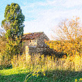 Old Little Stones House In Provence by Alain De Maximy