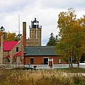 Old Mackinac Point Lighthouse In October by Keith Stokes