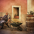 Old Man In Monterossa Italy Dsc02447 by Greg Kluempers