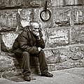 Old Man Pondering by Susan Schmitz