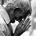 Old Man Praying by Jagdish Agarwal