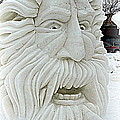 Old Man Winter Snow Sculpture by Kay Novy