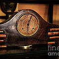 Old Mantelpiece Clock by Kaye Menner