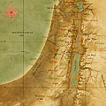 Old Map Of The Holy Land by Carol and Mike Werner