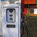 Old Marathon Gas Pump by Kristie  Bonnewell