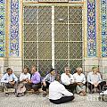 Old Men Socializing In Yazd Iran by Jacek Malipan