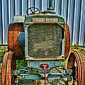 Old Metal Wheeled Tractor Hdr by Randy Harris