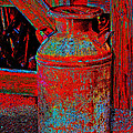 Old Milk Pail Pop Art by Phyllis Denton
