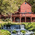 Old Mill And Waterfall by Terri Morris