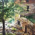 Old Mill Stream I by Lori Brackett