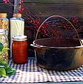 Old Miners Outdoor Kitchen Table Still Life by Cherie Cokeley