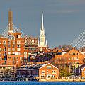 Old North Church And The Zakim Bridge by Susan Cole Kelly
