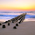 Old Ocean Pier At Dawn by Roupen  Baker
