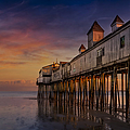 Old Orchard Beach Pier Sunset by Susan Candelario