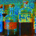 Old Pharmacy Bottles - 20130118 V1a by Wingsdomain Art and Photography