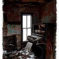 Old Piano Card by Mark Baker