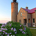 Old Point Mackinac Lighthouse And Lilacs by Craig Sterken