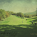 Old Postcard Of Golf Buddies At The Homestead by Paulette B Wright