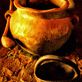 Old Pot And Ladle by Michael Pickett