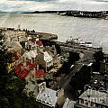 Old Quebec City By St.lawrence by Elaine Berger