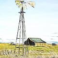 Old Ranch Windmill by Steve McKinzie