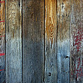 Old Reclaimed Wood - Rustic Red Painted Wall  by Rebecca Korpita