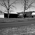 Old Red Barn In Black And White by Chris W Photography AKA Christian Wilson