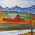 Old Red Barn by Larry Marano