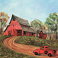 Old Red Barn by Terry Lewey