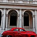 Old Red Car In Havana by Larry Sides