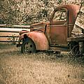Old Red Farm Truck by Edward Fielding