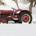 Old Red Tractor by Carolyn Postelwait