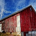 Old Red Wooden Barn by Jim Lepard