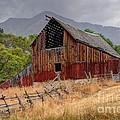 Old Rural Barn In Thunderstorm - Utah by Gary Whitton