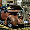 Old Rusty Car At The Old Shop  Ca5083a-14 by Randy Harris