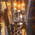 Old Santa Fe Lamp by Michael Flood