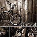Old School Bmx - Pk Collage Bw by Jamian Stayt