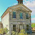 Old School House Bannack Ghost Town Montana by Jennie Marie Schell