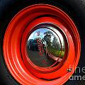 Old School Wheel And New Reflection by Dean Ferreira