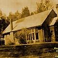 Old Sepia Photo Old Farmhouse H A by Gert J Rheeders