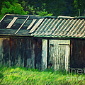 Old Shed by Jutta Maria Pusl