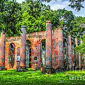 Old Sheldon Church Ruins by Dale Powell