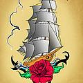 Old Ship Tattoo  by Mark Ashkenazi