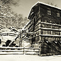 Old Snow Covered Quarry Mill by George Oze