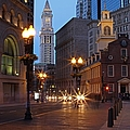 Old State House And Custom House In Boston by Juergen Roth
