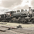 Old Steam Locomotive No. 97 - Made In America by Gary Heller