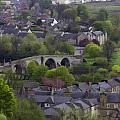Old Stirling Bridge And Houses As Visible From Stirling Castle by Ashish Agarwal